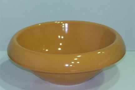 כיור צבעוני לאמבטיה 7108. מידות: קוטר 41  צבע: כתום מבריק  אפשרויות התקנה:  מעל או חצי בפנים