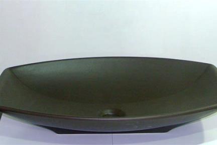 כיור צבעוני לאמבטיה 7211. מידה: 60X38  כיור מונח  צבע: חום מט