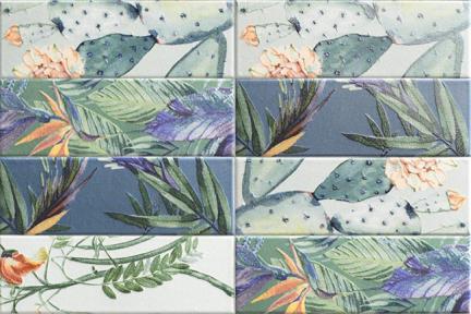 דגם 13713. פרחים וציפורים מעורב אריחים שונים  גודל: 30*10