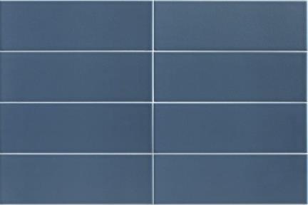 """אריחי פורצלן דק מסדרת PURE COLOR בעובי 3.5 מ""""מ 13704. כחול כהה  גודל: 30*10  לפי הזמנה מיוחדת 6 שבועות"""