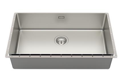 כיור למטבח עשוי נירוסטה NR121-5. כיור מטבח נירוסטה מוברש  גודל: 42*75