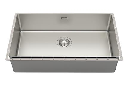 כיור למטבח עשוי נירוסטה NR121-8. כיור מטבח נירוסטה טקסטורה וינטג'  גודל: 42*75