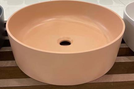 כיור מונח לחדר אמבטיה L479-2. כיור אבן מלאכותית ורוד עתיק  קוטר 40