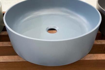 כיור מונח לחדר אמבטיה L479-4. כיור אבן מלאכותית צבע כחול  קוטר 40