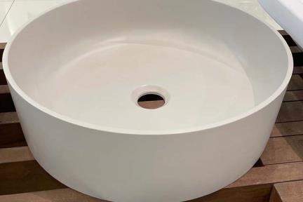 כיור מונח לחדר אמבטיה L479-7. כיור אבן מלאכותית אפרפר  קוטר 40