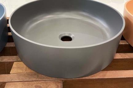 כיור מונח לחדר אמבטיה L479-9. כיור אבן מלאכותית צבע פחם  קוטר 40