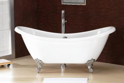 אמבטיה במראה עתיק BT43. אמבטיה אנטיקה  מידה- 182X75  BT43C -רגליים כרום  BT43W -רגליים לבנות