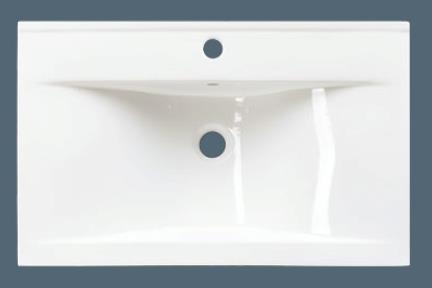 כיור קיר תלוי לאמבטיה L6560. מידה: 60X46  צבע-לבן  כיור קיר  גם כיור מעל משטח-חצי בפנים