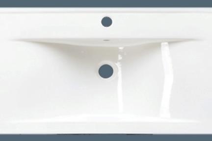 כיור מונח לחדר אמבטיה L6590. מידה-90X42  צבע-לבן  כיור מעל משטח-חצי בפנים  יכול לשמש גם ככיור קיר