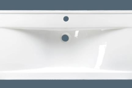 כיור מונח לחדר אמבטיה L6120. מידה 120X46  צבע לבן  כיור מעל משטח-חצי בפנים  יכול להיות גם כיור קיר