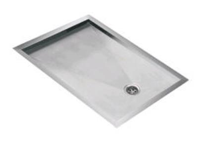 כיור למטבח עשוי נירוסטה NR301. משטח טיפטוף והפשרה מנירוסטה  מידה - 56X44  עומק 2 סמ