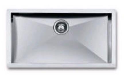 כיור למטבח עשוי נירוסטה NR106. כיור נירוסטה 86X46  עומק כיור 20 סמ