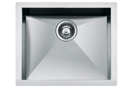 כיור למטבח עשוי נירוסטה NR105. כיור נירוסטה 56X46  עומק כיור- 20 סמ