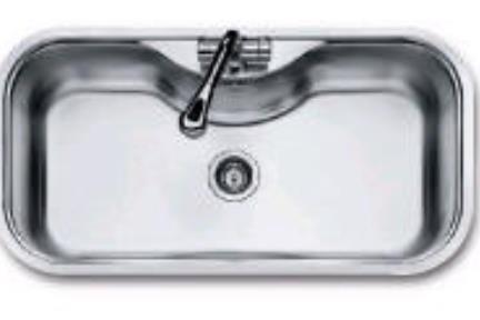 כיור למטבח עשוי נירוסטה NR104. כיור נירוסטה 98X51  התקנה שטוחה  עומק כיור 21.5 סמ