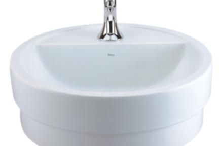 כיור על  כיור מונח לחדר אמבטיה L90. כירם מונח/כיור שולחנים תוצרת חברת DECA  דגם L90  התקנה מעל משטח  מידות: קוטר 45