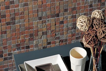 אריחי פסיפס לחיפוי קיר מקרמיקה 3614. ceramic mosaic  פסיפס קרמי  דמוי צפחה