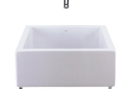 כיור חצי שולחני  כיור אמבטיה חצי שולחני L80. דגם L80  מידות 41X41  צבע לבן  תוצרת DECA - BRASIL