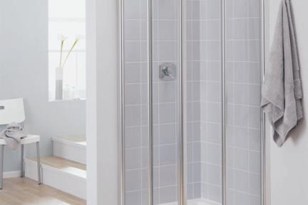 מקלחון פינה מרובע 43