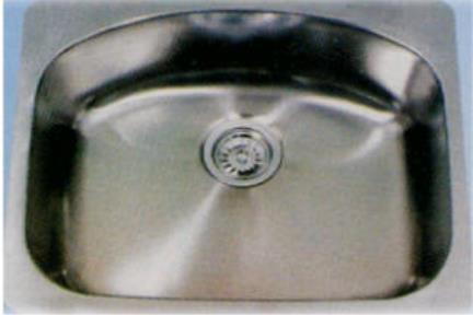 כיור למטבח עשוי נירוסטה NR6051 אינדיאנה. כיור נירוסטה 60X51