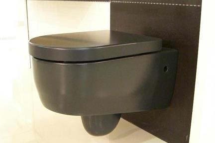 אסלה תלויה שחורה. אסלה תלויה +מושב  צבע- שחור מט
