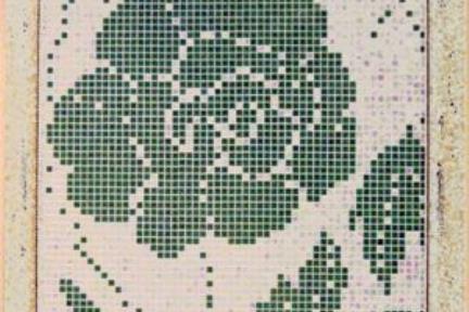 אריחי פסיפס לחיפוי קיר בעיצוב תמונה SET44. פסיפס צדף-ירוק  מידה 90X210
