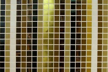 אריחי פסיפס לחיפוי קיר מזכוכית 3801A+B. פסיפס זכוכית  צבעוני+זהב  מעורב 2 סוגים על מנת לתת  מרחב מעניין