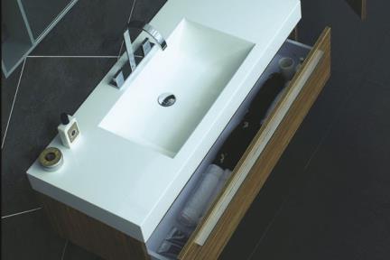 ארונות אמבטיה לאחסון  6280. כיור אקרילי 120X50 + ארון  צבעים:  6280-1 עם ארון לבן מבריק