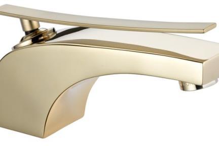 ברז Bongio סדרת Bongio Gold 47521 GOLD. ברז פרח  זהב מבריק  או זהב מט+ידית שחורה  BONGIO-ITALY