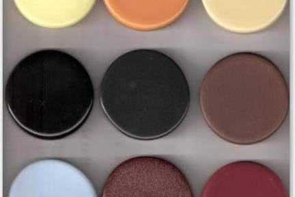 צבעי כיורים. ניתן להשיג כיורים  בצבעים שונים  מט אן מבריק