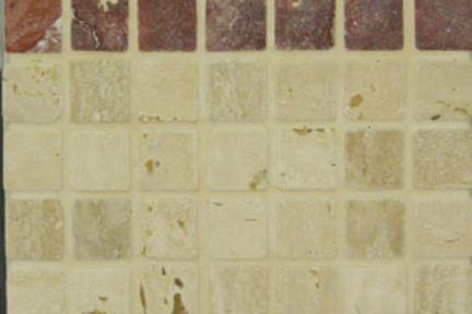 פסיפס אבן 3456. PXHPX אבן   על רשת 30X30