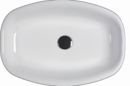 כיור מונח לחדר אמבטיה 7600. כיור מונח חצי בפנים  מידה 54X37  צבע: לבן