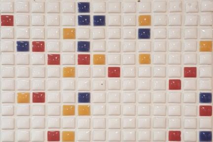 אריחי פסיפס לחיפוי קיר מקרמיקה 3018. פסיפס 1X1  על רשת 30.5X30.5