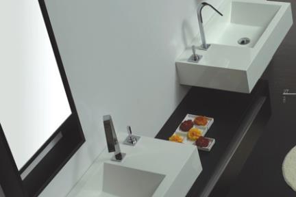 כיור אמבטיה אקרילי L6073. כיור אקרילי לבן  מידה 73X41   6073SL -כיור צד שמאל