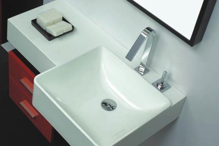 כיור אמבטיה אקרילי L6086. כיור קיר אקרילי לבן  מידה: 80X56  עם או בלי חור לברז