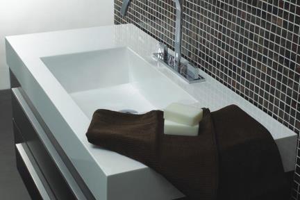כיור אמבטיה אקרילי L6100. כיור אקרילי  מידה 100X48  עם או בלי חור לברז