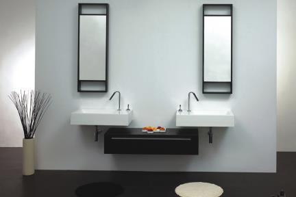 ארונות אמבטיה לאחסון  6099. שידה מאורכת 120X40  6099-1 בצבע לבן  6099-2 בצבע שחור מט