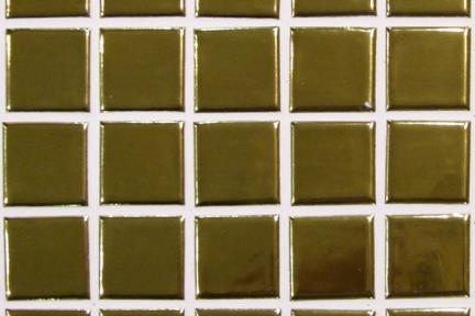 אריחי פסיפס לחיפוי קיר מקרמיקה 3620. פסיפס קרמי  על רשת 30X30  זהב מבריק שטוח