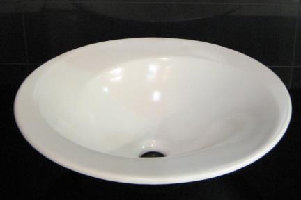 """כיור צבעוני לאמבטיה 7910. כיור פרח ספירלה  קוטר 47 ס""""מ  צבע: פנינה מט"""