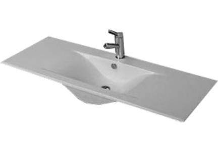 כיור מונח לחדר אמבטיה L6121. כירם אמבטיה עליון/כיור שולחנים.  כיור שולחני לבן  מידה: 120X45