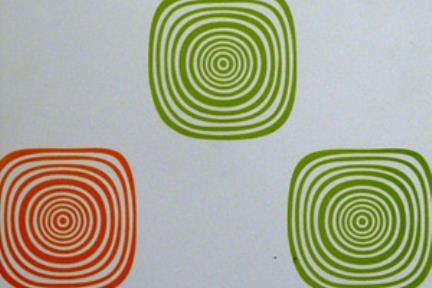 אריח לחיפוי קיר  לאמבטית ילדים P290. מידה 30X60  ריבועים כתום -ירוק  על לבן מט