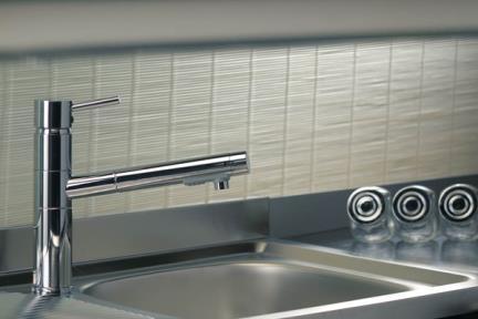 ברזים מעוצבים למטבח  32380. ברז למטבח- פיה מקבילה לכיור  BONGIO-ITALY