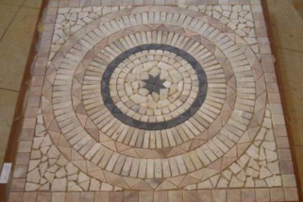 אריחי פסיפס לחיפוי קיר מאבן ST801. שטיח 80X80 מפסיפסי אבן