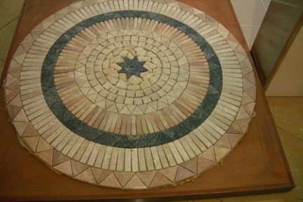 אריחי פסיפס לחיפוי קיר מאבן ST1001. שטיח פסיפס אבן  מידה  100X100