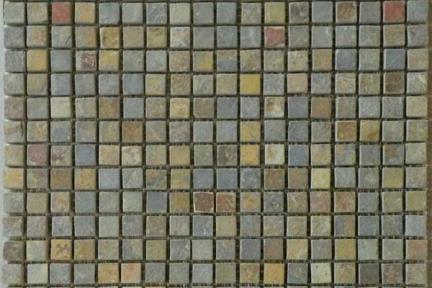 אריחי פסיפס לחיפוי קיר מצפחה 3912. פסיפס ציפחה על רשת 30X30  צבע:מולטיקולור