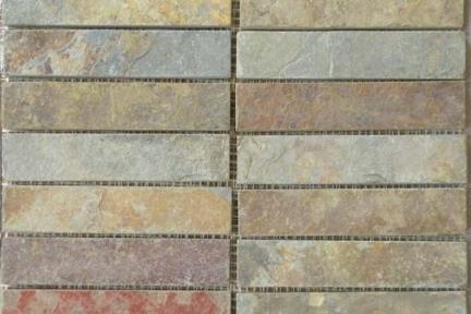 אריחי פסיפס לחיפוי קיר מצפחה 3905. פסיפס צפחה על רשת 30X30  צבע: מולטיקולור