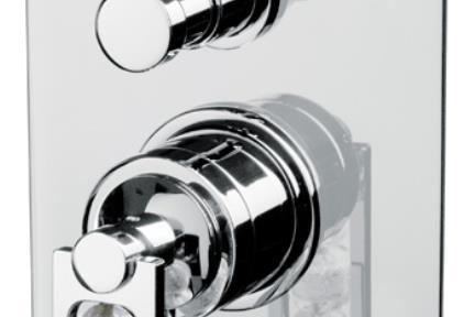 ברז Bongio מסדרת Mya Crystal 48529. אינטרפוץ 4 דרך  סידרה MYA CRYSTAL  תוצרת BONGIO-ITALY