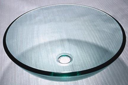 כיור אמבטיה מונח עשוי זכוכית GG4300. כיור זכוכית שקוף  קוטר 42  ================