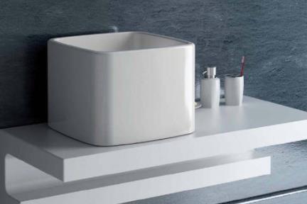 כיור מונח לחדר אמבטיה 7040. כיור 40X40  גובה 30 סמ  בנפרד נמכר כיסוי פנימי