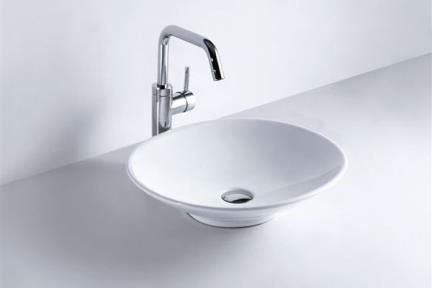 כיור מונח לחדר אמבטיה B254. כיור מונח 50X43  לבן