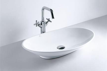 כיור מונח לחדר אמבטיה B261. כיור מונח 69.5X42  לבן